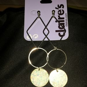 Shaped Earrings with Acrylics